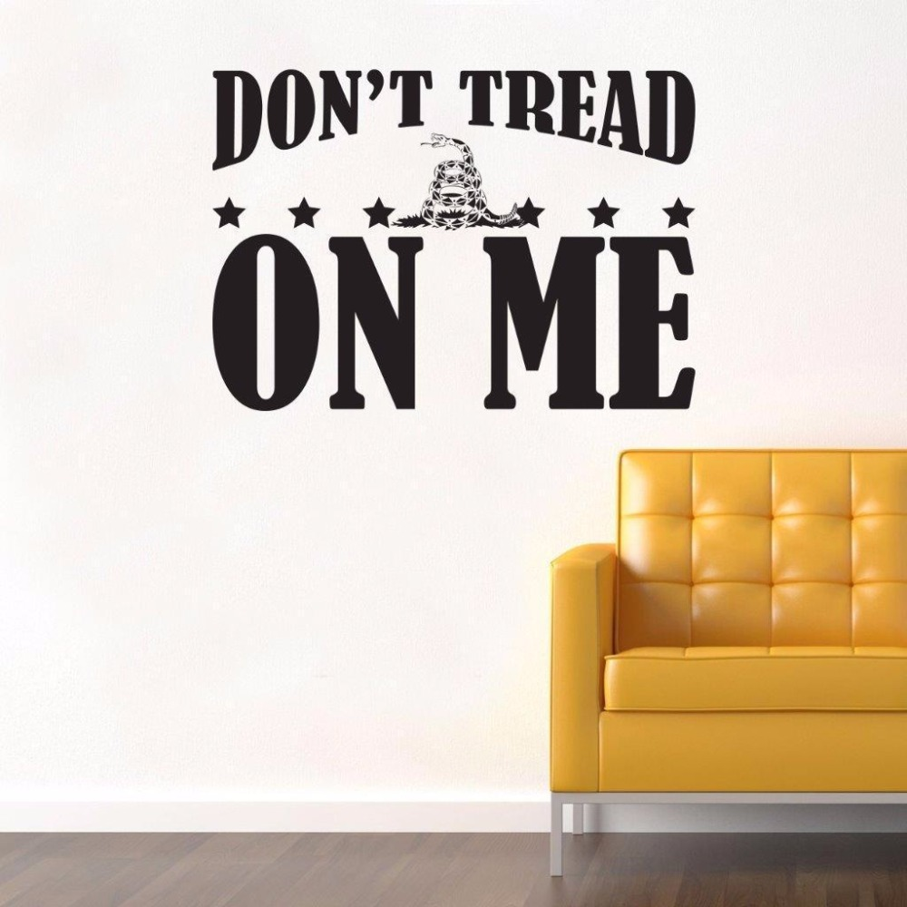 Don T Tread On Me Lettering Quotes Wallpaper Stickers For