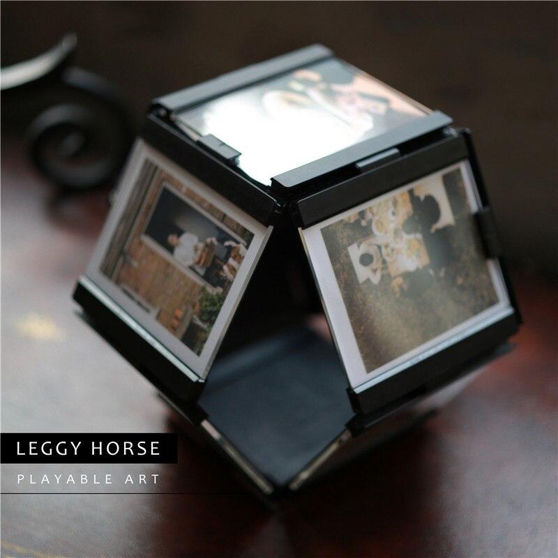 Leggy Horse negro blanco DIY bebé amor imagen Marcos vintage ...