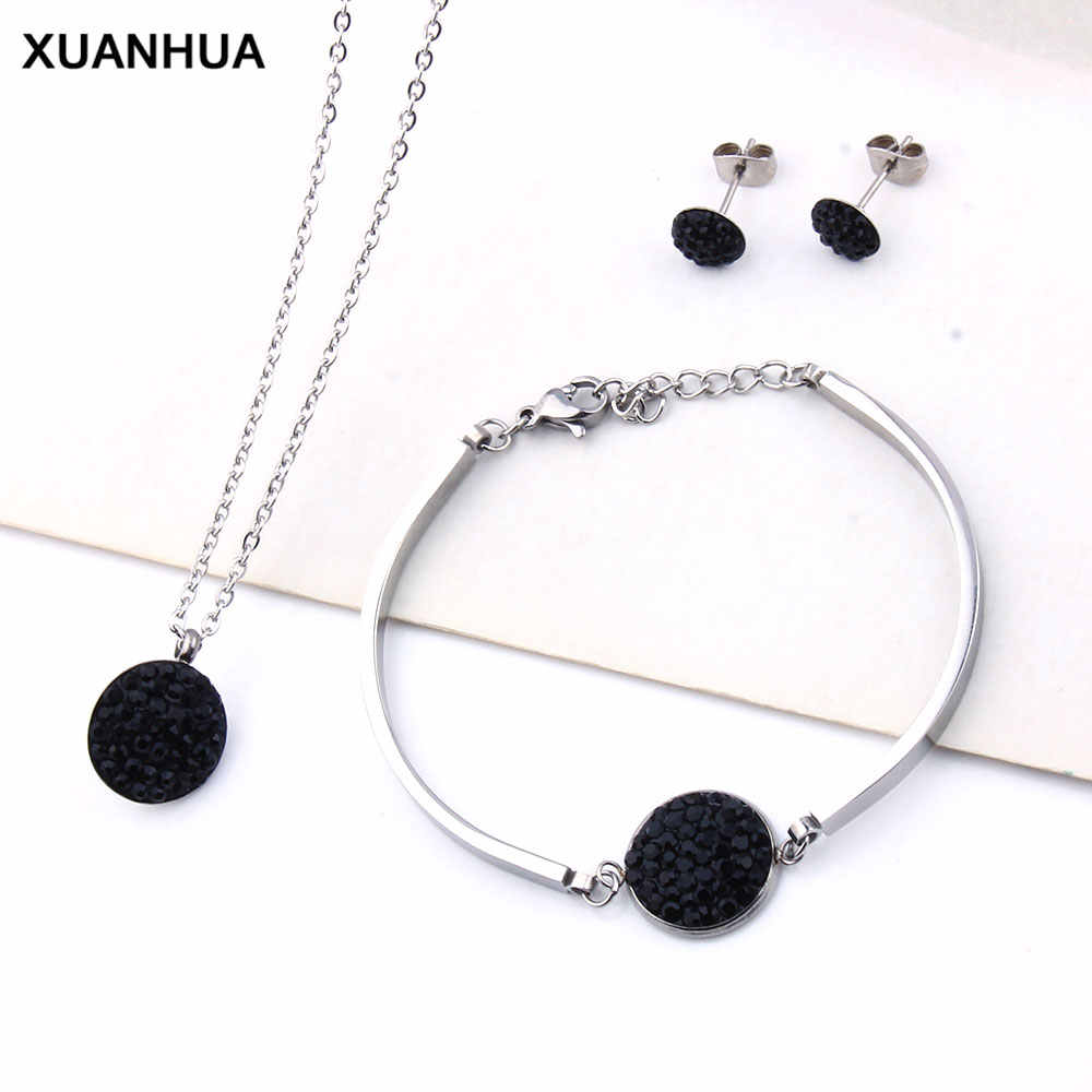 XUANHUA Stainless Steel Jewelry Sets Wholesale Indian Jewelry African Beads Jewelry Sets For Women Wedding Jewelry Accessories
