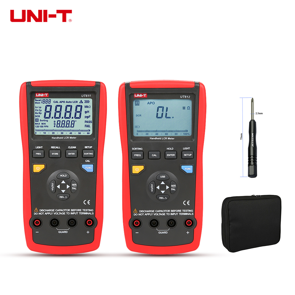 UNI-T Digital Multimeter UT612 UT611 LCR Meter Inductance 200H 2000H Capacitance Resistance Frequency Test Auto LCR Smart Check цена 2017