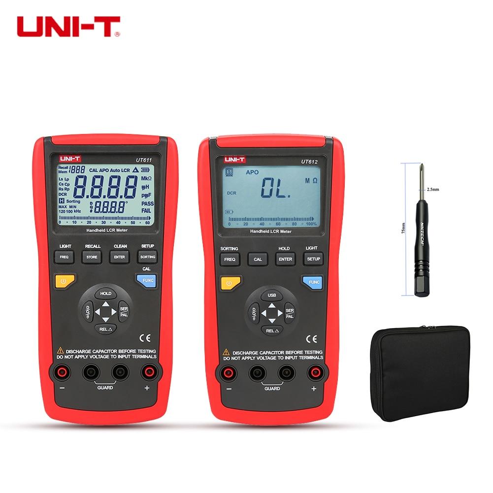 UNI-T Digital Multimeter UT612 UT611 LCR Meter Inductance 200H 2000H Capacitance Resistance Frequency Test Auto LCR Smart Check цена