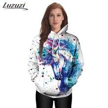 Женские толстовки, модные пальто с капюшоном, весенне-осенняя тонкая толстовка с единорогом, пуловеры с длинными рукавами, WS2117