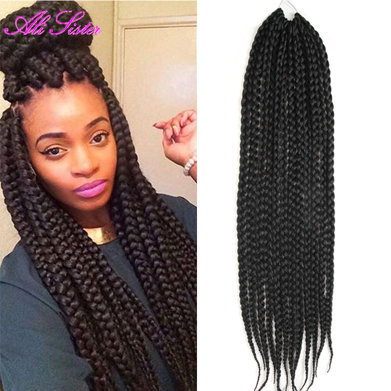 African Box Braids Hair Crochet Hair Extensions Expression Braiding