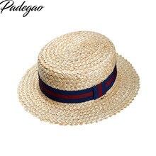 2016 verano dulce lindo Vintage Cruz sol sombrero playa cinta lazo estilo  marino sombrero de paja gorra corta de ala plana tapa . ca87d04269e