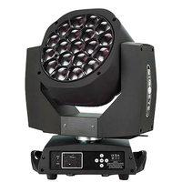 Nieuwe Grote Bee Eye led moving head zoom functie DMX 512 wassen licht RGBW 4IN1 19x15W Beam effect licht party/bar/DJ/stage lightting