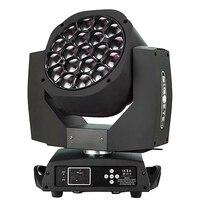 Işıklar ve Aydınlatma'ten Sahne Aydınlatması Efekti'de Yeni Büyük Arı Göz led hareketli kafa zoom fonksiyonu DMX 512 yıkama ışık RGBW 4IN1 19x15W Işın etkisi ışık parti/bar/DJ/sahne aydınlatma