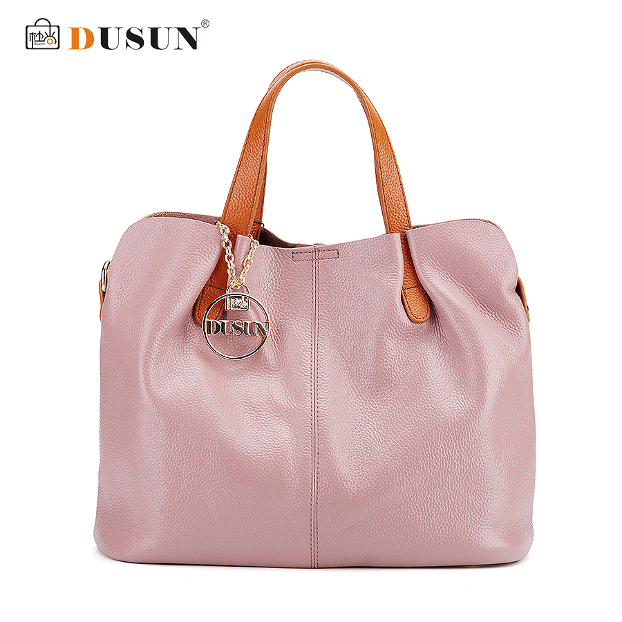 Dusun Genuine Leather Bag Simple Vintage Style Shoulder Bag Womens Brand Design