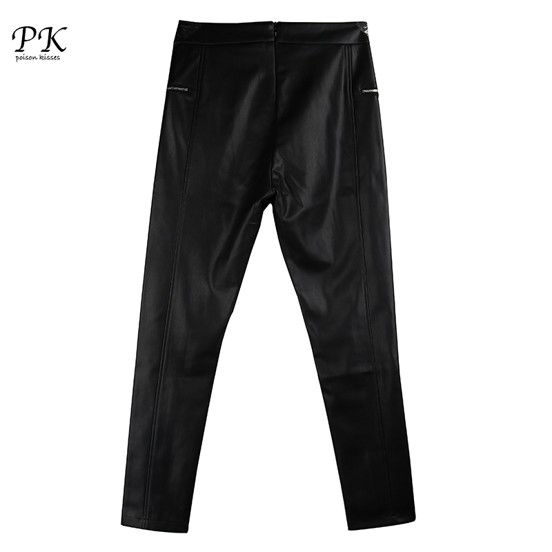 Casual Negro Plumas Dentro Otoño Pantalones Mujeres Capris Pk Cintura Caliente Femenino Black Alta Suave Pu t7qwFSx8U