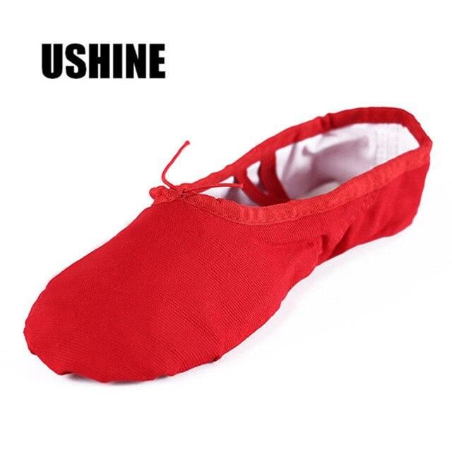 Red Black Pink White Soft Teacher Practice Zapatillas Ballet Canvas Ballet Dance Shoes For Kids Women Children