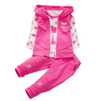 2014 New Spring Autumn Baby Girls Sport Suit Set Long Sleeve Children Hoodies Pants Clothes Sets