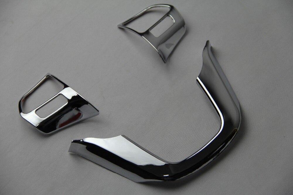 ABS хромированная отделка многофункциональное рулевое колесо блестки крышка автомобильные аксессуары для Kia RIO K2 седан хэтчбек 2011 2014|Наклейки для салона авто|   | АлиЭкспресс