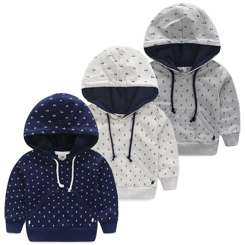 1192399c8537 Mudkingdom boy coat hoodie dark blue anchor for autumn baby coat ...