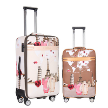 20 24 inches Fashion classic day and night Trolley suitcase luggage Pull Rod trunk traveller case