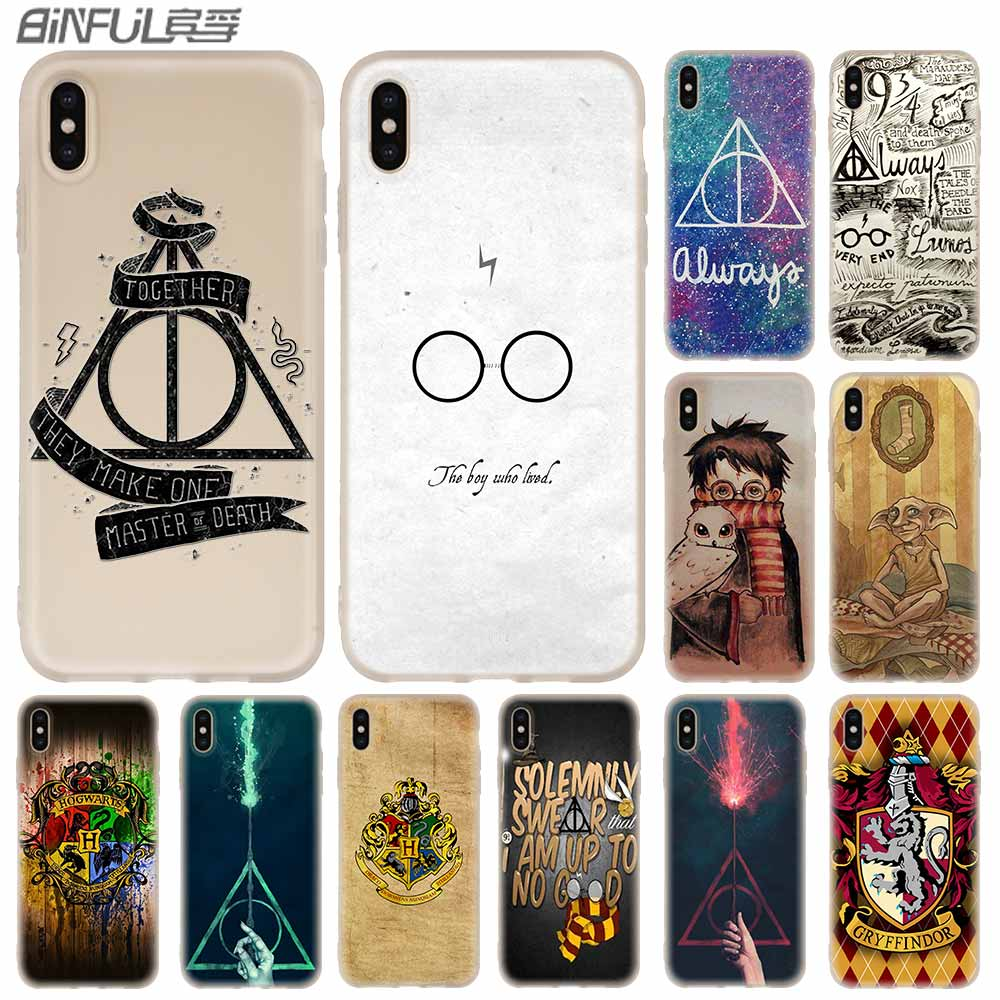 5b28ad82d5 Cases Silicone soft Cover for iPhone X XS Max XR 6 6S 7 8 Plus 5 4S SE xs  xr harry potter hogwarts castle lego