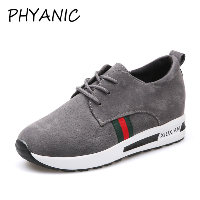 PHYANIC Fashion Mixed Colors Vulcanize Shoes Women Casual Lace Up Comfort Light Platform Woman Sneakers Shoes Woman CAZ3177 de la chance women vulcanize shoes platform breathable canvas shoes woman wedge sneakers casual fashion candy color students