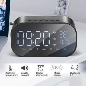 Image 2 - TOPROAD Tragbare Bluetooth Lautsprecher Unterstützung Temperatur LCD Display FM Radio Wecker Drahtlose Stereo Subwoofer Musik Player