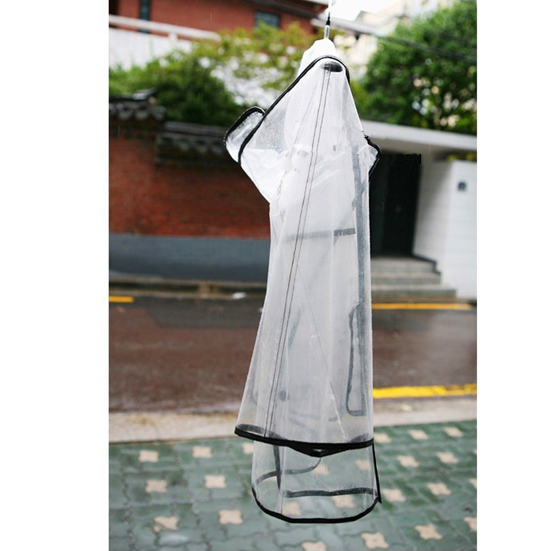 Raincoat Plastic Womens Girls Transparent Rain Coat Pluie Cape Randonnee Poncho Outdoor Raincoat Cloaks For Women QQG274
