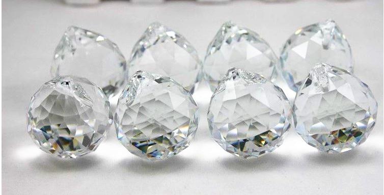 Livraison gratuite 1 pcs/Lot 100 MM boule à facettes suspendue en cristal pour cadeau de décoration de mariage - 2