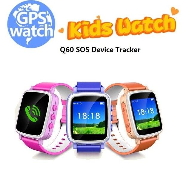 Наручные часы Kid Безопасный Поиск GPS Anti Потерянный Напоминание SOS Device Finder Tracker Монитор Детей Android Q60 Smart Watch Phone
