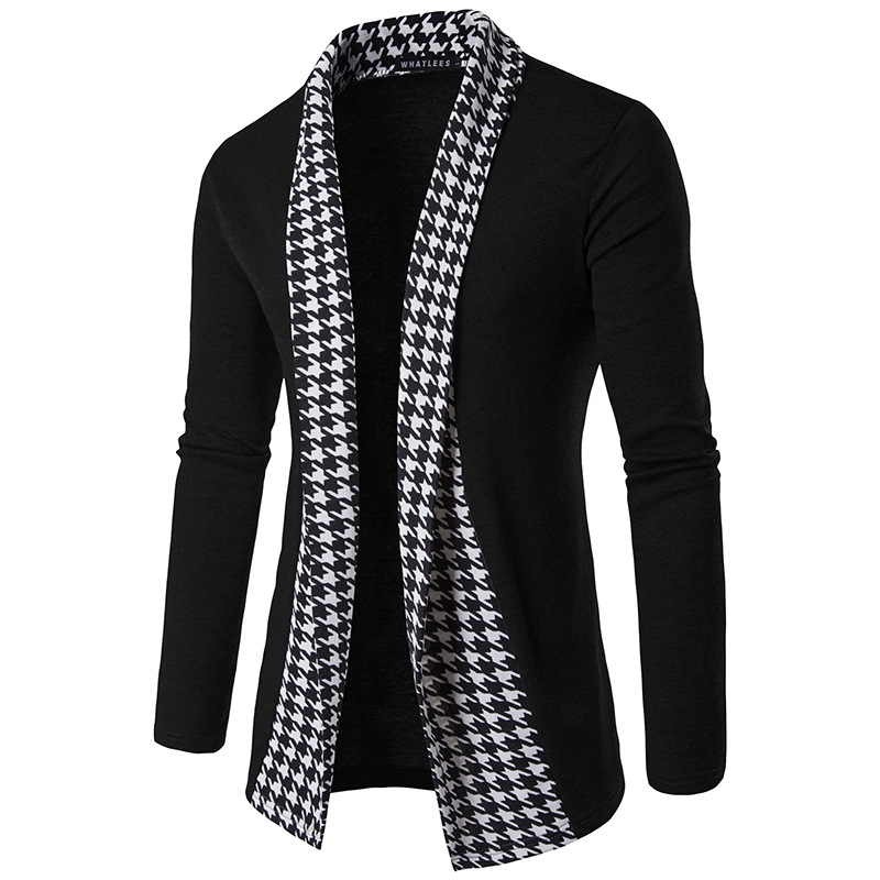 2018 New Fashion Men Casual Cardigan Mens Knitted Cardigan Jumpers Without Button Patchwork Cardigans Masculino