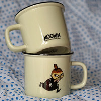 1 stücke 350 ml Wenig Mein Mädchen Cartoon Becher Finnland Moomin Tal Becher kaffee Milch Tee Tasse Weiß Gelb Kreative Geschenke Caneca Copo