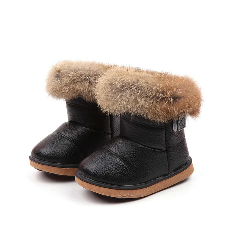 New 2018 Winter Children Shoes PU Leather Snow Boots kids Warm Boys Warm  Boots Girl Platform 6bfdeb7a1d68