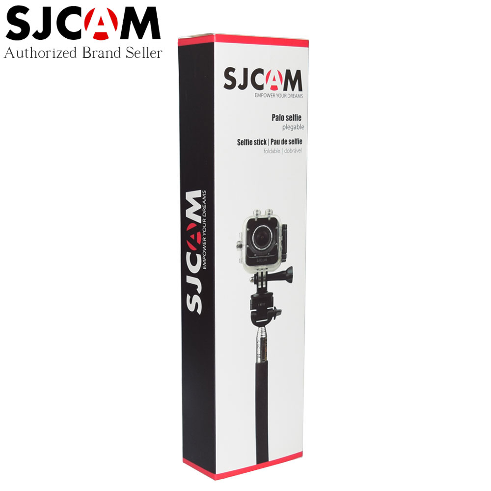 SJCAM marca de aluminio Handheld extendible Monopod con trípode Selfie Stick para SJ4000 SJ5000 M10 serie SJ5000X deportes acción Cam