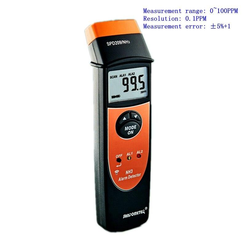 LCD Digital Ammonia NH3 Detector 0 100PPM Sound Light Alarm Precise 0 1PPM Handheld Ammonia Leak