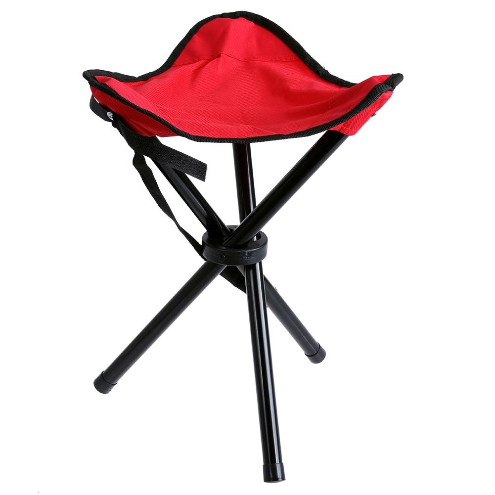 BBQ Stool Tripod Three Feet Chair Seat Outdoor Portable Lightweight Camping Hiking Fishing Folding Picnic Garden D25