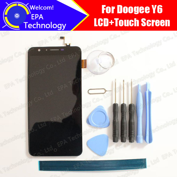 Doogee Y6 LCD Display+Touch Screen 100% Original New Tested Digitizer Glass Panel Replacement For Y6 +Tools lq065t5gg61 6 5 lcd panel new and original