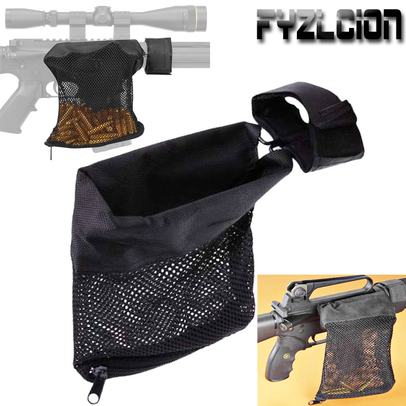Tactical Rifle Brass Shell Catcher Quick Release AR15 Ammo Mesh Trap Nylon Mesh Bag Capture Black .223 / 5.56-in Pouches from Sports & Entertainment