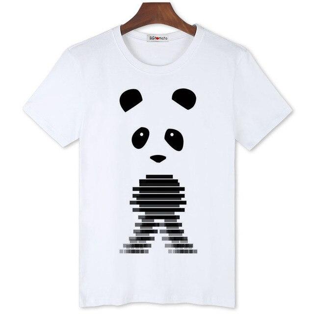 4d6c9692ee8a BGtomato new style cool panda printing lovely t shirts men s super fashion  trends shirts Original brand 100% good quality shirts