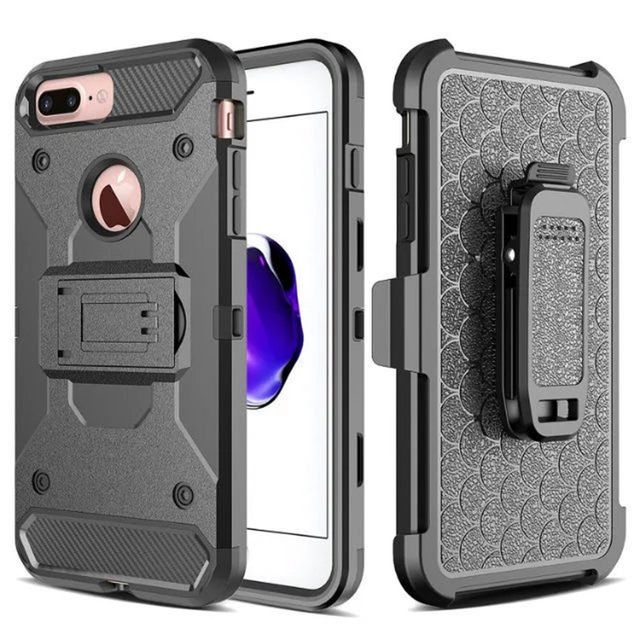 new style 1619e 81f8b US $5.89 |For iPhone 6 6s plus 7 plus Full Body Case Hard Heavy Duty Man  Male Boy Boys Kiskstand Stand Case for Apple 6P, 6SP 6+ 6S+ 7+-in Holsters  & ...
