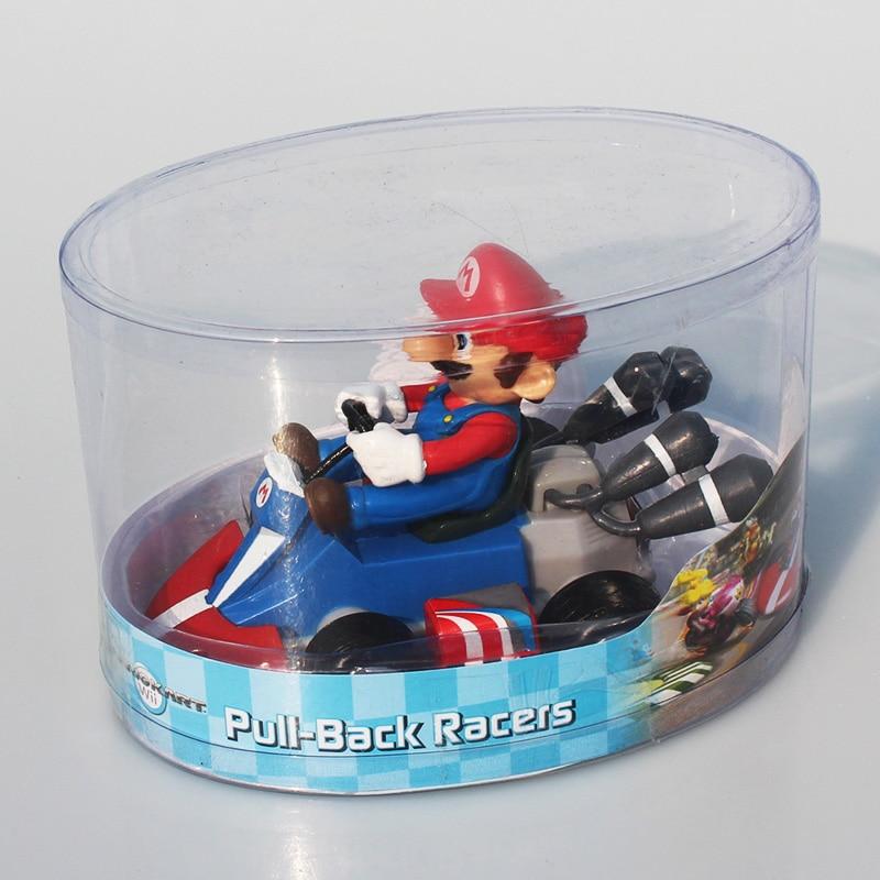 Super Mario Bros Kart Mario Luigi Princess Peach Toad Donkey Kong Yoshi Figures Pull Back Cars Pull-Back Racers Karts PVC Toys 1