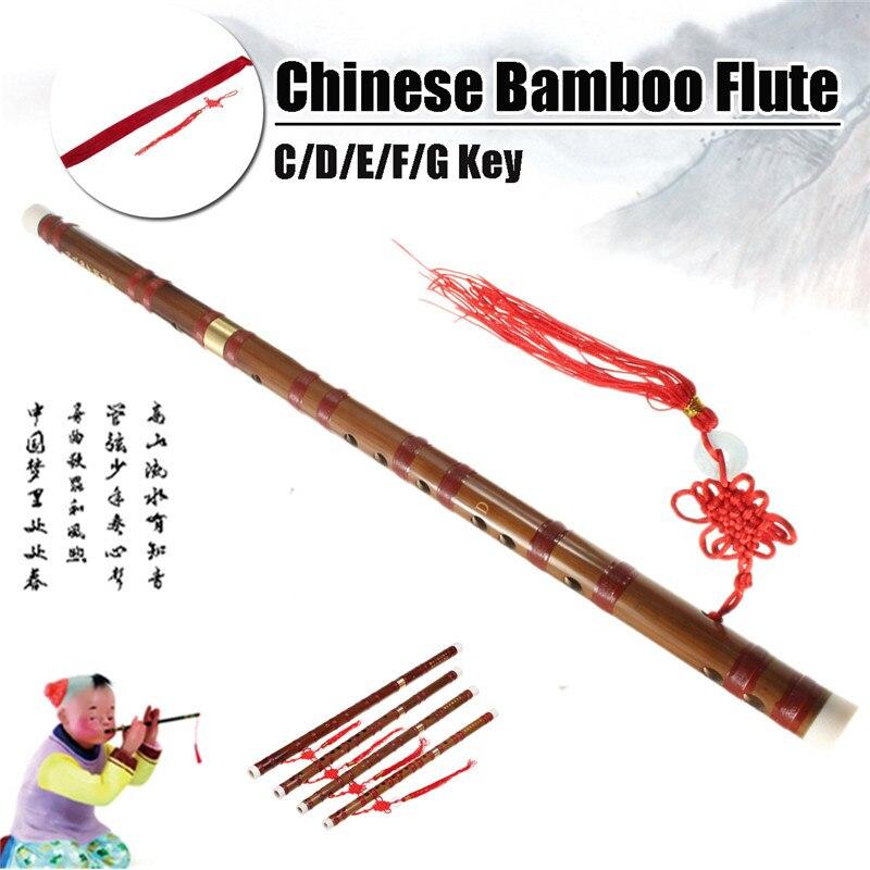 Chinese Bamboo Flute Professional dizi Musical instruments C E F G Key Flauta With Dizi + Bag + Knot Bamboo Flute  MusicalChinese Bamboo Flute Professional dizi Musical instruments C E F G Key Flauta With Dizi + Bag + Knot Bamboo Flute  Musical