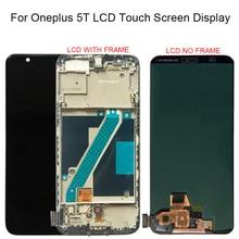 100% נבדק עבור Oneplus 5T A5010 LCD תצוגת מסך מגע Digitizer עצרת 2160*1080 מסגרת עם משלוח חינם