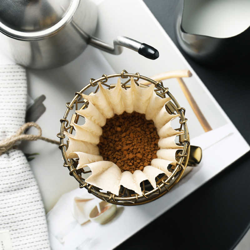Dripper de café drohoey dobrável inteligente filtro de café v60 estilo copo de filtro de gotejamento de café portátil reutilizável paperless despeje sobre