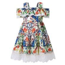 Bongawan/платье для девочек бальное платье на бретельках в богемном стиле, детская одежда хлопковая одежда с геометрическим узором для девочек от 3 до 10 лет