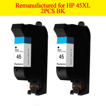 2 PK remanufactured Ink Cartridge for HP45 51645A with pigment ink for HP 1120c/1125c/1180c/1220c/1280/1600c/6122 Printer