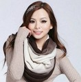New Fashion Unisex Womens Ladies Men's Winter Knitted Circle Loop Cowl Infinity Scarf Snood Scarves Wraps Free Shipping