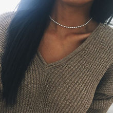2Pcs Fashion Necklace Pearl Jewelry Natural Freshwater Pearl White Choker Necklace For Women #240923(China)