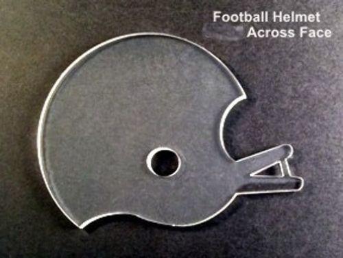 Football Helmet Clear Acrylic Thick Keychain Blanks