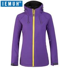 IEMUH Brand Hiking Jackets Windproof  Waterproof Softshell Outdoor Women Warm Coat Camping Trekking With Fleece