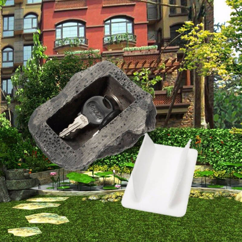 Creative Outdoor Spare Key House Simulation Stone Box Hidden Storage Security Anti Lost Insurance Simulation Stone Storage Box