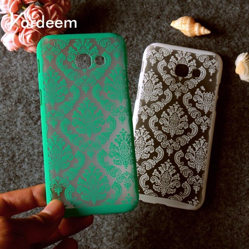 KARDEEM Case For Samsung Galaxy A6 Cases A6 Plus 2018 Cover Floral Plastic Funda For Samsung A5 2017 A3 2016 A7 Xcover 4 Fundas