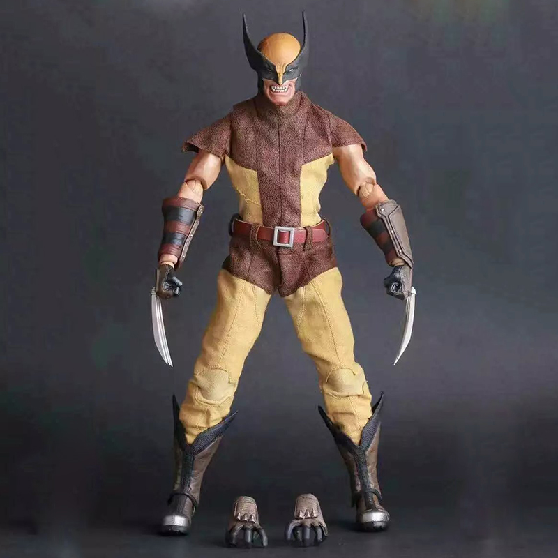 26cm Crazy Toys 16th Super Hero Wolverine PVC Action Figure Collectible Model Toy Christmas Gift Halloween Gift 26cm crazy toys 16th super hero wolverine pvc action figure collectible model toy christmas gift
