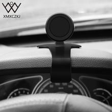цена на XMXCZKJ Phone Car Holder Universal Phone Stand Dashboard Clip Mount Magnetic Holder 360 Degrees Rotation Bracket For iPhone X XS