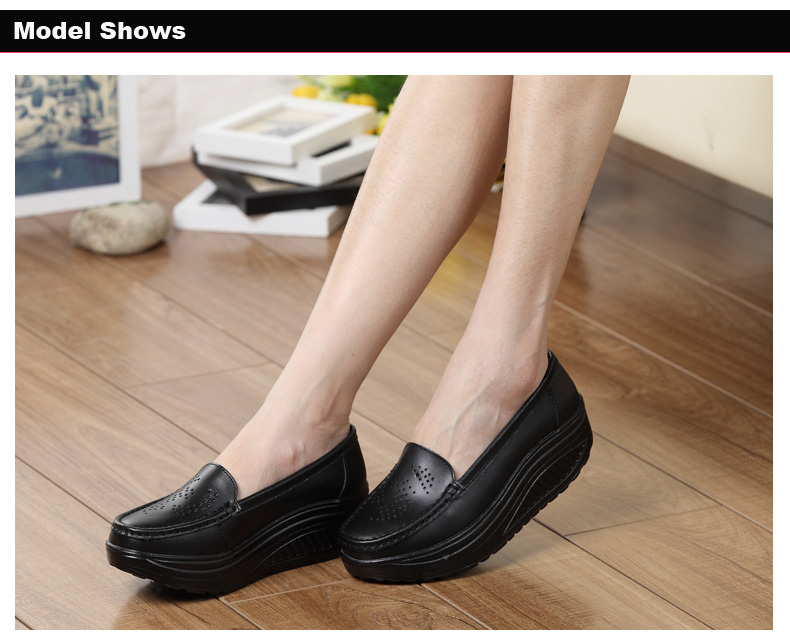 New Womens Shake Shoes Lady Genuine Leather shoes (18)