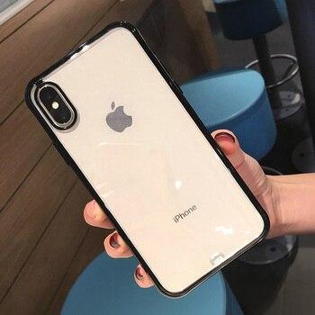 iPhone X Case Bumper Clear Black
