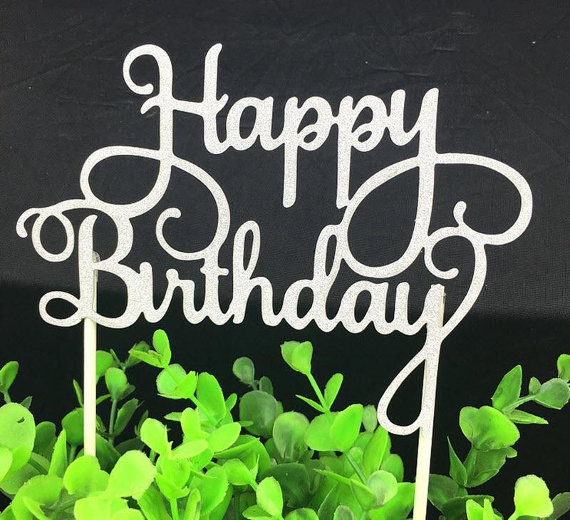 1pc Alles Gute zum Geburtstag Cake Topper Multi Farben Kuchen Flagge - Partyartikel und Dekoration - Foto 3